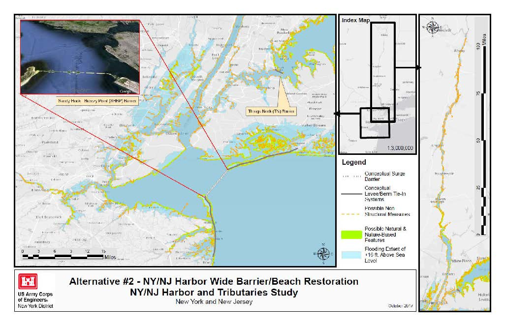 Image of one proposal for storm surge barriers
