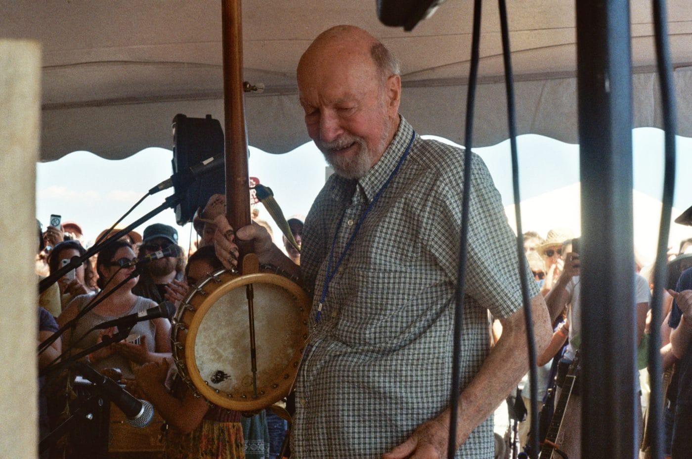 Pete Seeger at Newport Folk Festival, 2011