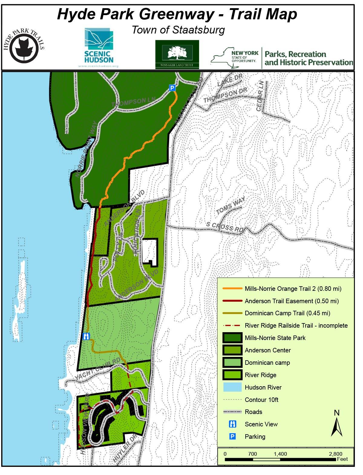 Hyde Park Trail River Overlook Scenic Hudson - New york map hudson river