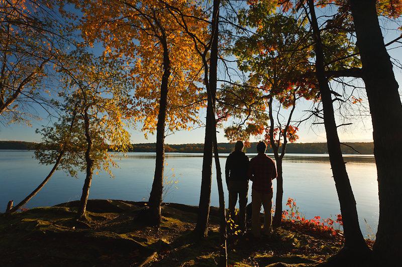 Hikers at Black Creek Preserve