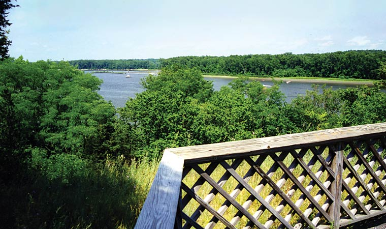 observation platform at Four Mile point