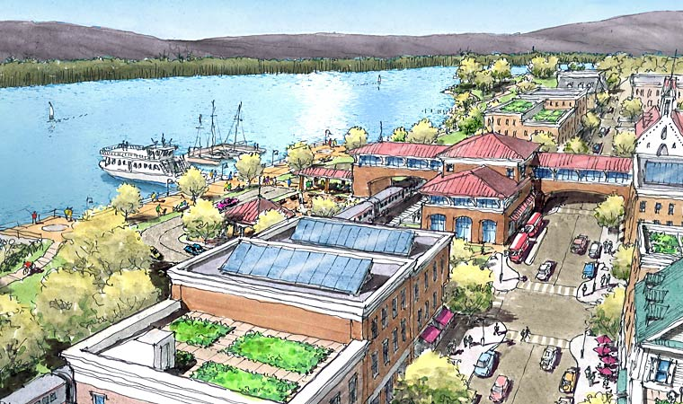 vision of a revitalized riverfront community
