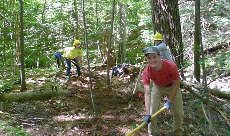 Volunteer Trail Building at Madam Brett Park