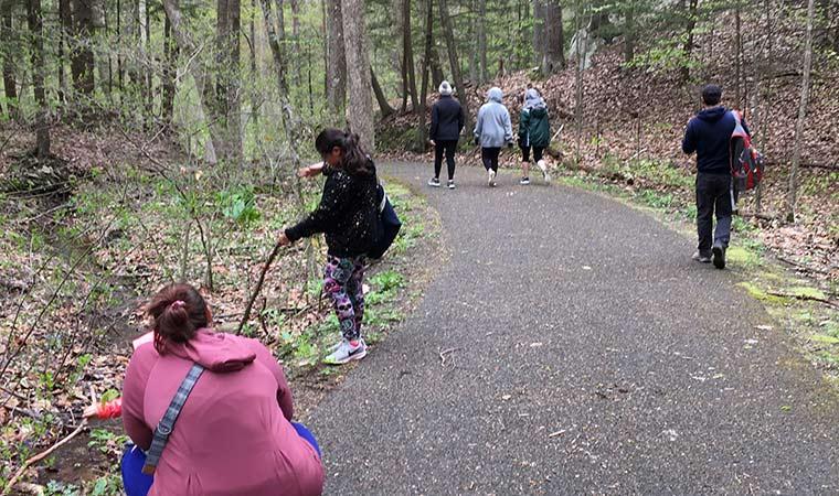 People enjoying Farm Lane Trail