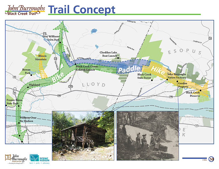 John Burroughs Black Creek Trail Concept Map
