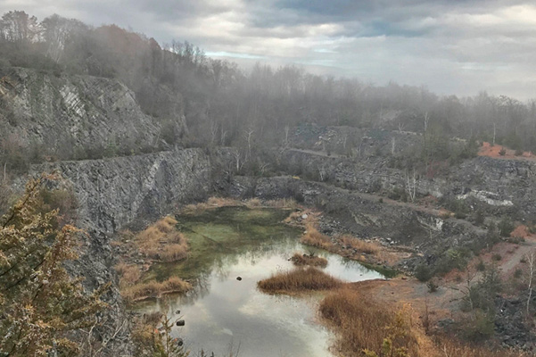 Abandoned Quarry at Former Industrial Site