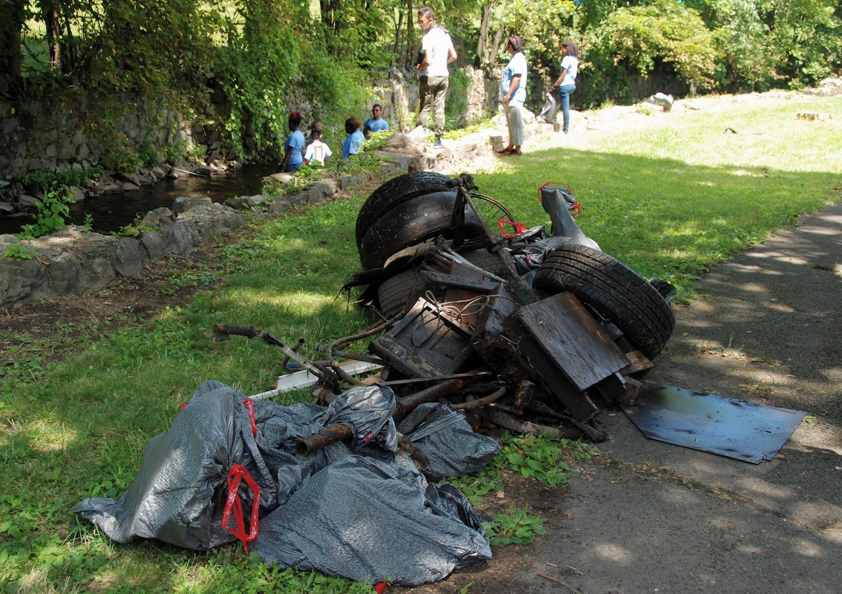July 2017 Volunteer Cleanup at Fall Kill Creek. Photo: Jay Dorin