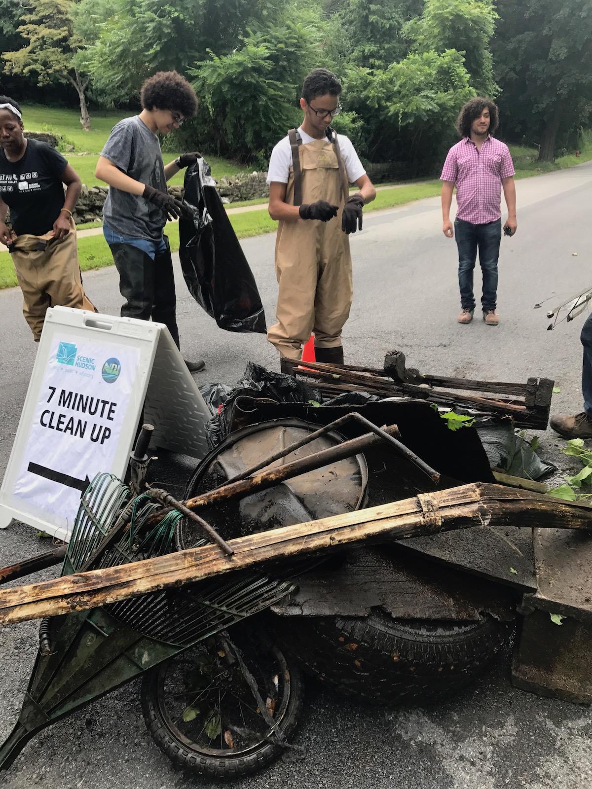 July 2017Volunteer Cleanup at Fall Kill Creek. Photo: Jason Taylor